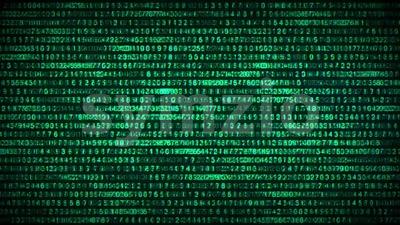 Binary Code Data Security Distort Background Stock Video