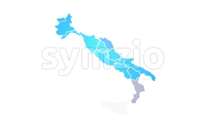 Italy Map Showing Up Intro With New Regions Stock Video