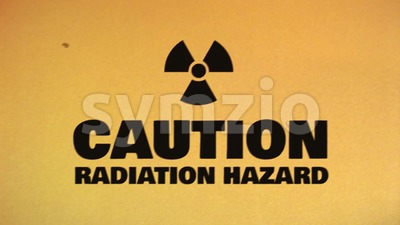Caution Hazard Icon On Bad Old Film Tape Stock Video