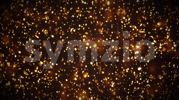 4k animation of an abstract background with gold fractal particles rising and seamless looping
