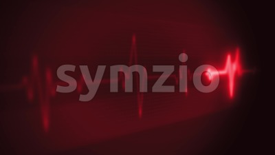 4k Medical Heart Pulsation Wave Signal Stock Video