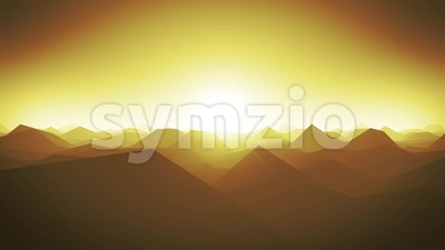 Mountains Landscape Silhouette Background Loop Stock Video