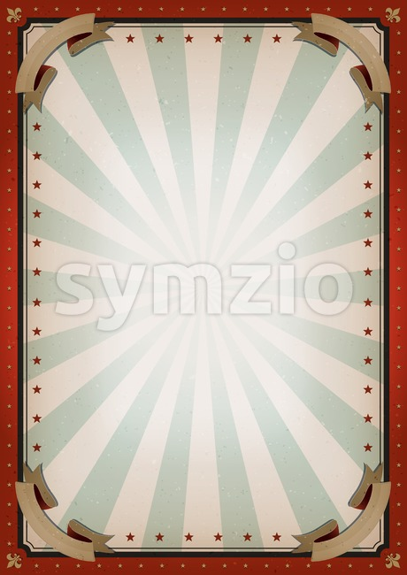Vintage Blank Circus Poster Sign Stock Vector