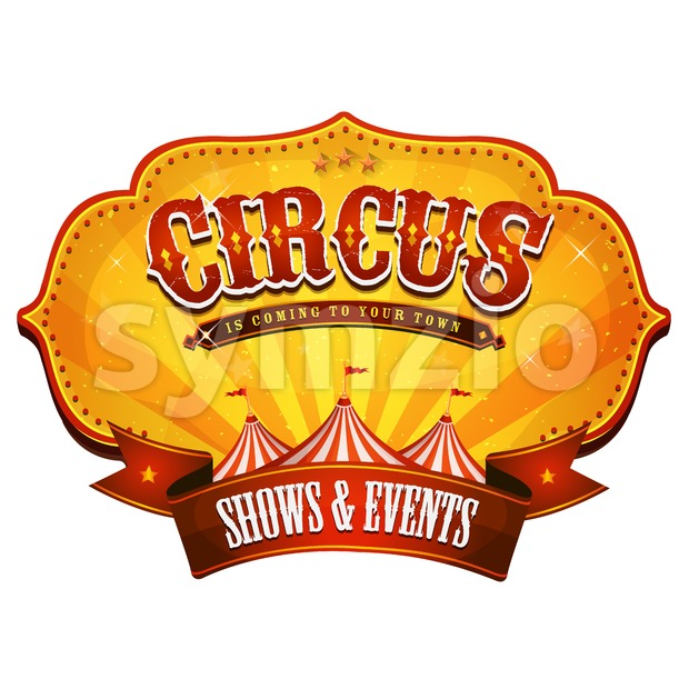 Carnival Circus Banner With Big Top Stock Vector
