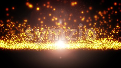Abstract Light Particle Flowing Loop Stock Video