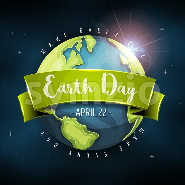 Earth Planet Background Stock Vector