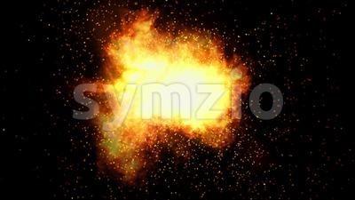 Shockwave Power Fire Explosion Loop Stock Video
