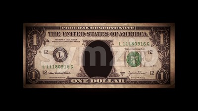 US Dollar Bill With Skullhead Inside And Glitch Effect Stock Video