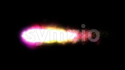Shockwave Power Fire Meteor Loop Stock Video