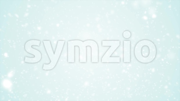 4k animation of an abstract blurred white background with snowflakes and particles falling, with seamless looping