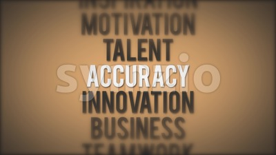 Success Business Quote Animation Loop Stock Video