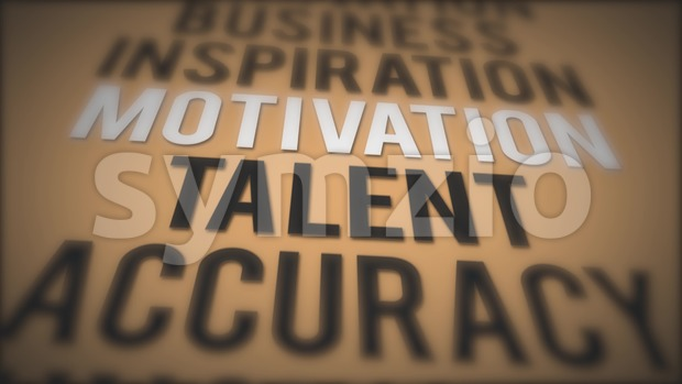 4k animation of an inspiration and motivating business quote background