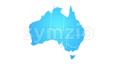 Australia Map Showing Up Intro By Regions Stock Video