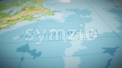 Geography World Map Flight Over Background Stock Video