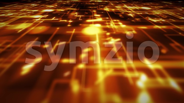 4k animation of an abstract 3d technology background with lines and dots infographics, data fading and zooming in seamless loop