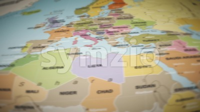 World Map Flight Over Background Stock Video