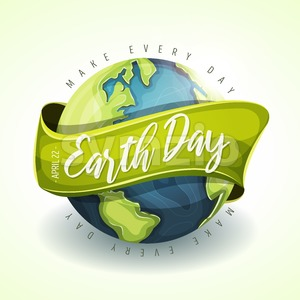 Happy Earth Day Holiday Banner Stock Vector