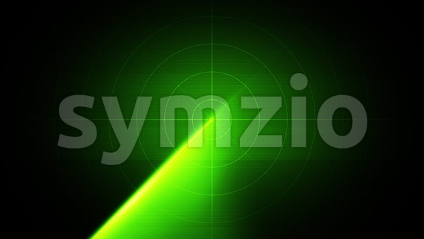 4k animation of a radar or sonar military equipment background, with circular scanning fx seamless looping