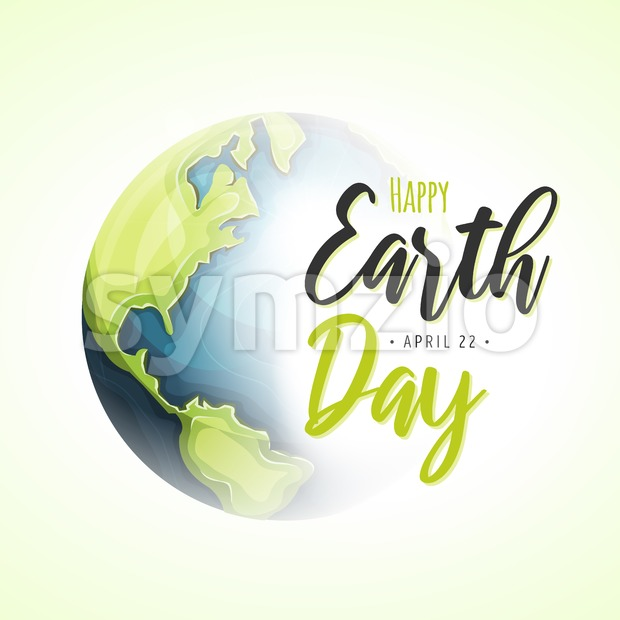 World Earth Day Background Stock Vector