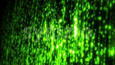 Computer Binary Code Data Falling Loop Stock Video
