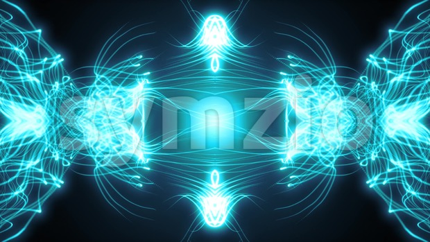 Abstract animated of beautiful background with fractal spider web light strings patterns waving