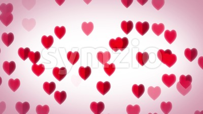Hearts Flying Background For Valentine's Day Stock Video