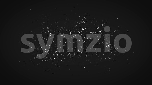 4k animation of a vintage motion graphic with black and white grunge distressed frame texture background seamless looping