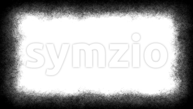 4k animation of a vintage motion graphic with black and white grunge distressed frame texture seamless looping, like in old ...