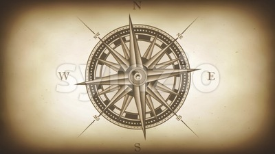 Compass Rose Animation Background Loop Stock Video