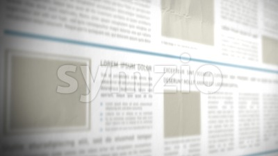 Scrolling 3d Newspaper Background Stock Video