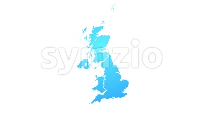 United Kingdom Map Showing Up Intro With Regions Stock Video