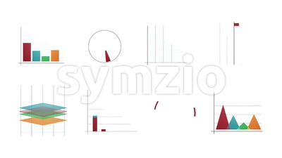 Business Stats And Infographics Layout Pack Stock Video