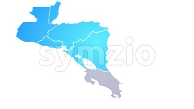 Central America Map Showing Up Intro By States Stock Video