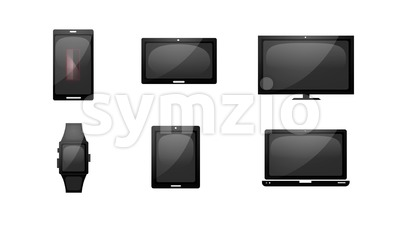 Multiple Devices Loading Technology Icons Stock Video
