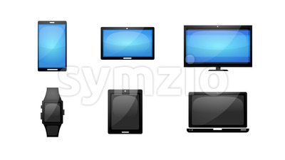Business Internet Technology Icons Set Stock Video