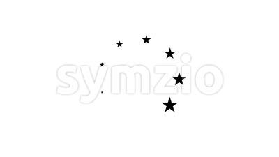 Black And White Flat Design Preloader Loop Stock Video