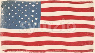 Vintage American Flag Textured Background Loop Stock Video