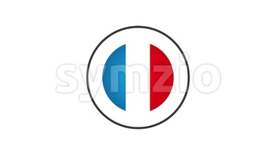 Made In France Badge Animation Stock Video