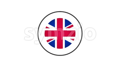 Made In United Kingdom Badge Animation Stock Video