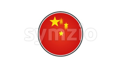 Made In China Badge Animation Stock Video