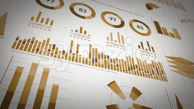 Business Statistics, Market Data And Infographics Layout Pack Stock Video