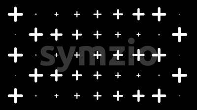 Abstract Flat Design Shapes Background Loop Stock Video