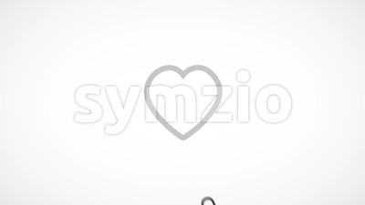 Social Network Like Icon With Splash Fx Stock Video