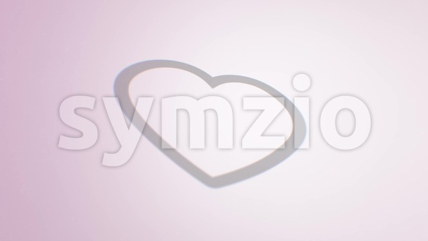 4k animation of a cool social network heart icon with mouse pointer clicking and number displayed