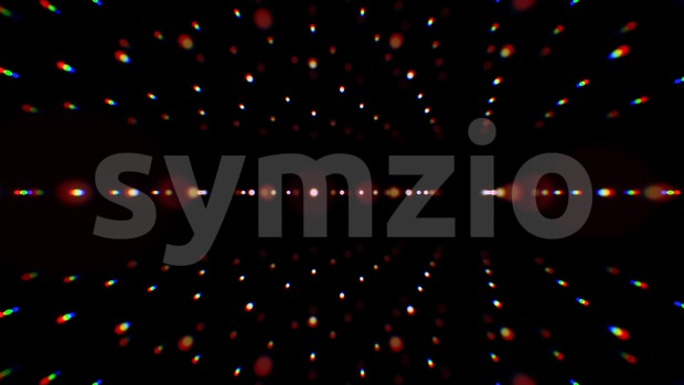 4k animation of an abstract background with graphic lines rotating with glow light and seamless looping