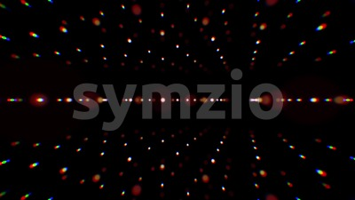 Abstract 3d Spinning Dotted Lines Background Loop Stock Video