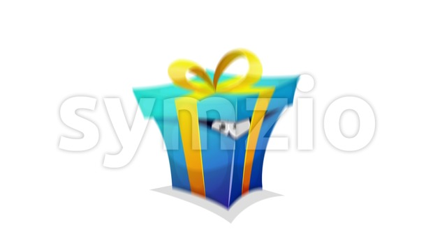 4k animated cartoon with comic animal, pet or creature character hiding inside a cardboard box loopable