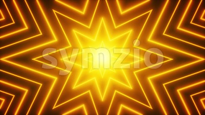 Abstract Neon Shiny Star Shape Background Loop Stock Video