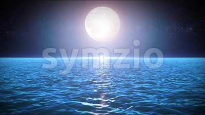 Seascape In The Moonlight Background Stock Video