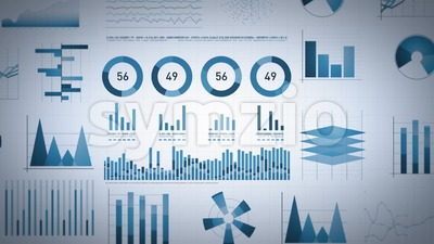 Business Statistics, Market Data And Infographics Layout Stock Video